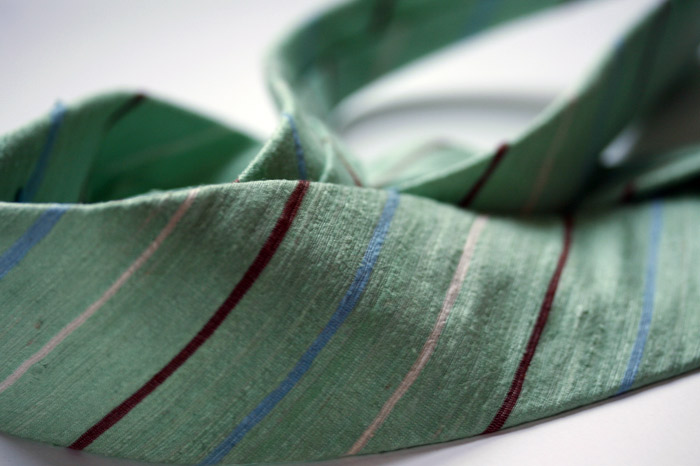 soft green silk detail