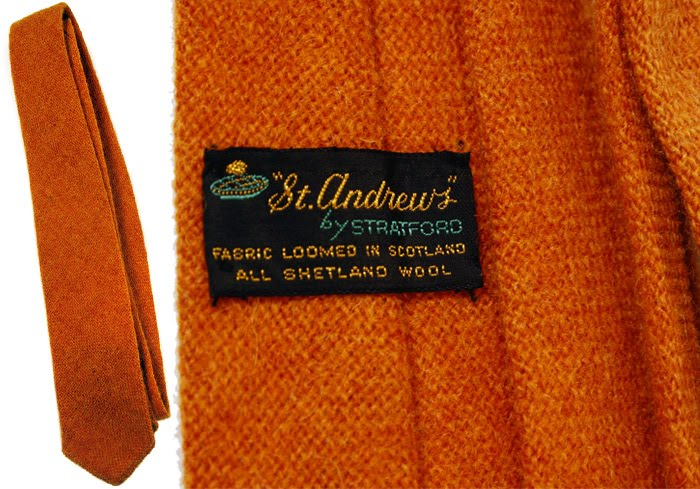 orange wool knit