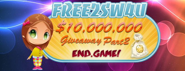 Restaurant City fREE2SW4U 10 Million Giveaway PART 2
