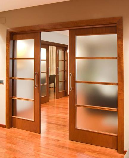 Puertas correderas ii decoracion y manualidades for Puertas interiores de madera con vidrio