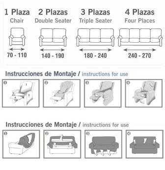 Fundas para sofas decoracion y manualidades for Medidas de sillones