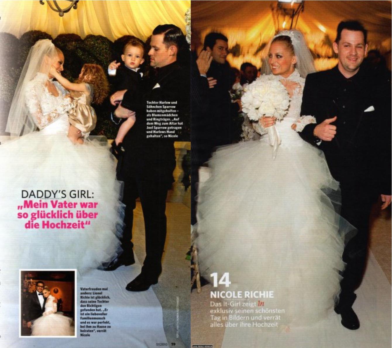 Nicole richie wedding dress pictures