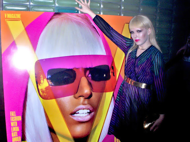 Darian Darling at Lady GaGa/Marc Jacobs/V Magazine fashion week party, Hiro NYC