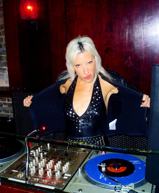 Heavy Metal DJ Lady Starlight at Rock Disco in Williamsburg