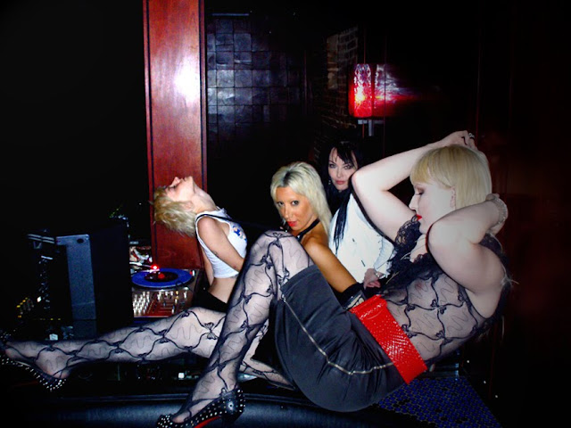 Lady Starlight, Darian Darling and Alex Magnetic at Lady Starlight's party Rock Disco, Williamsburg