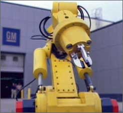 depressed GM robot
