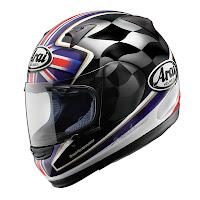 Arai Profile U.K. flag helmet