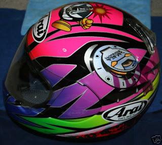 Arai Sakata helmet left side