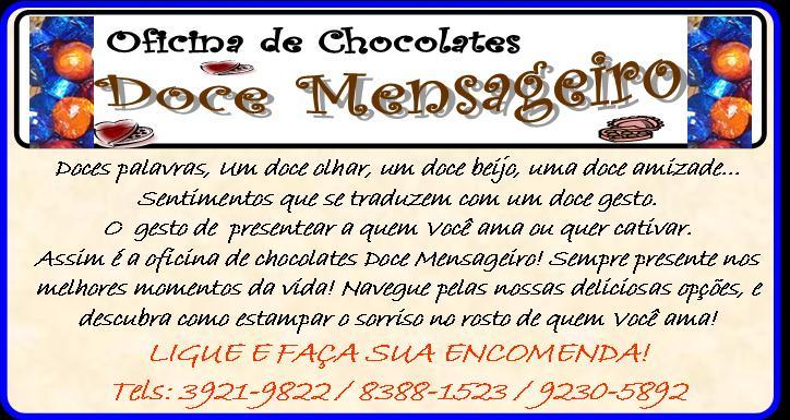 OFICINA DE CHOCOLATES DOCE MENSAGEIRO