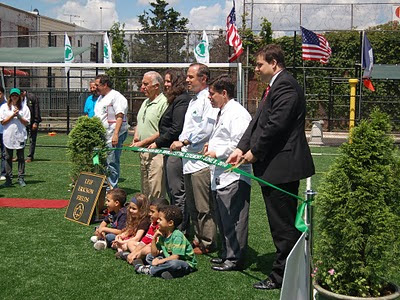 One couldn't have imagined a nicer day to do a new Park ribbon-cutting ceremony in Brooklyn.