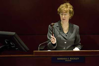 Speaker Barbara Buckley: Don't like what I'm saying? Wait 6 months and I'll contradict myself