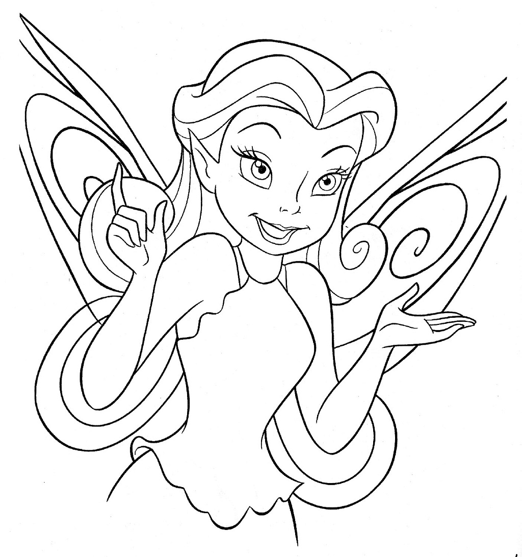 Disney Fairy Coloring Pages Disney In Coloring Pages
