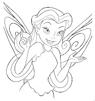 Disney Fairy face coloring page