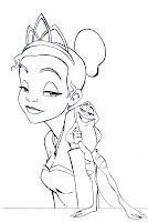 Tiana disney coloring page