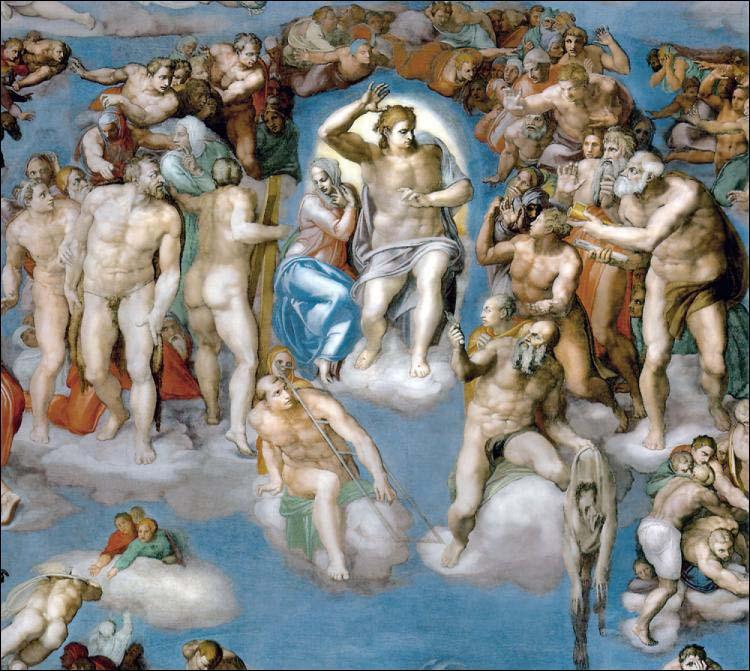 Michelangelo Buonarroti  Michelangelo+Buonarroti,+The+Last+Judgment,+Cappella+Sistina