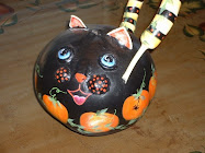 Cat  & Frog Gourds