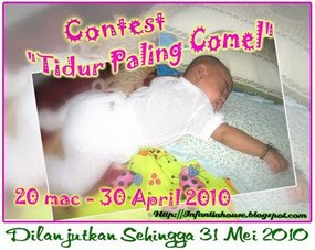 """Contest """"Tidur Paling Comel"""" by InfantiaHouse"""