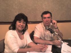 Lic. Gabriela Graneros (psicóloga) y Lic. Domingo Gonzalez (productor) en Radio Laser