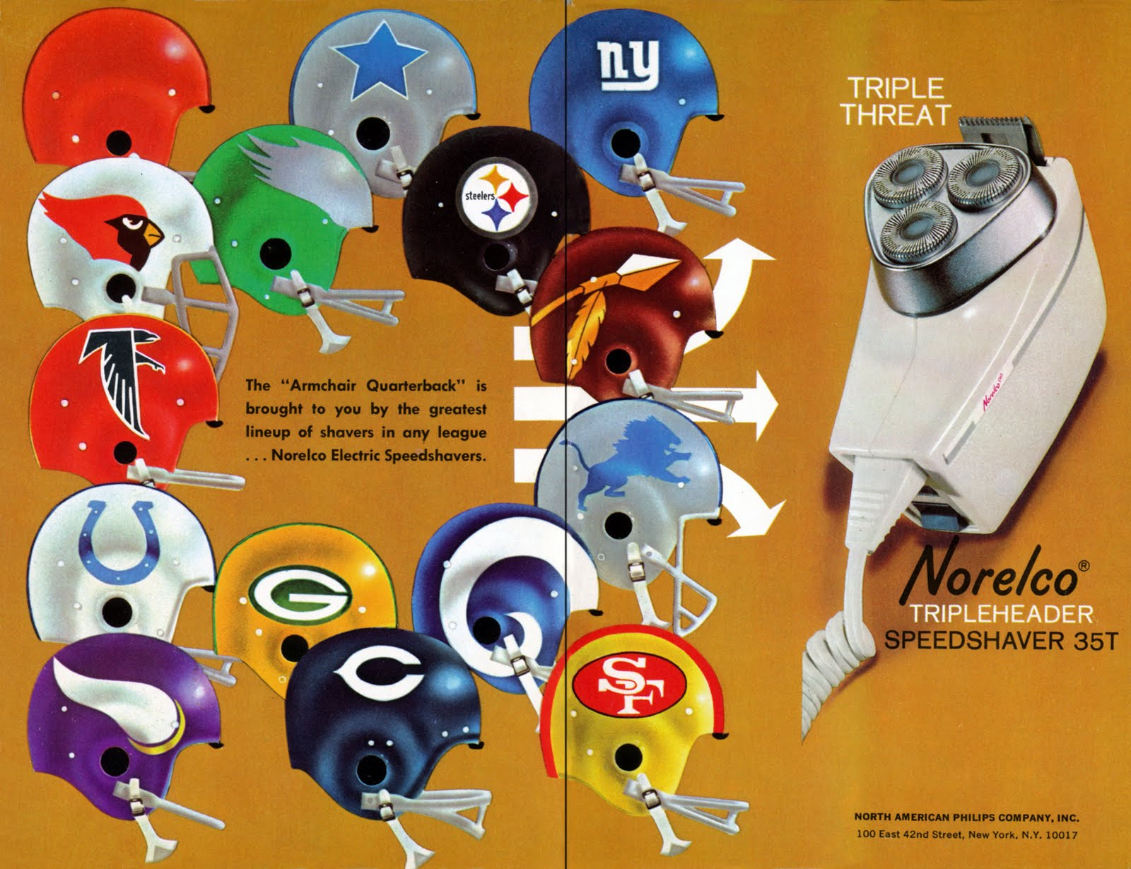 here is a cool advertisement from 1966 which shows the nfl teams