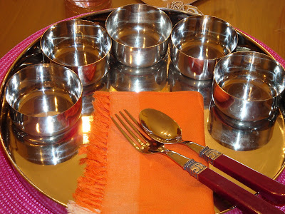 After seeing this beautiful table setting you all would want to know more about her Am I correct? She Is a chemist by profession . & Ethnic Indian Decor: Traditional Thali Setting By Komali Nunna