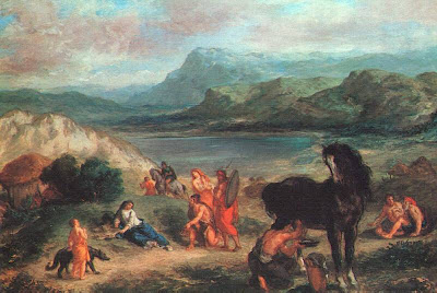 Ovid among the Scythians, by Delacroix