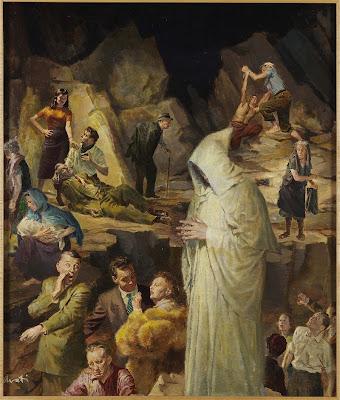 Merton e La Montagna dalle Sette Balze: dipinto di James Avati (1912-2005)