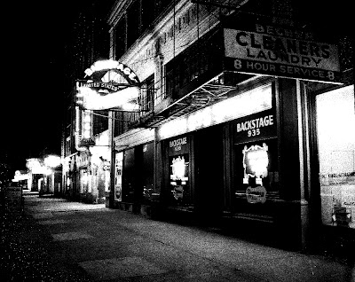 Backstage Nightclub, Wilson Avenue, Uptown, Chicago. Building now owned by JPUSA.