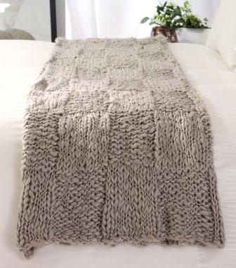 ABC Knitting Patterns - Easy Garter Stitch Baby Blanket.