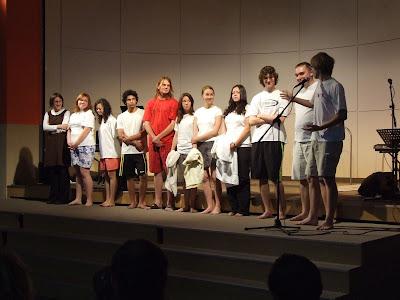 křest a přijímání deseti členů do sboru Elim Písek
