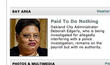 SF Chronicle Smears Deborah Edgerly, Claims She's Paid To Do Nothing