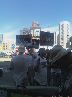 Republican demonstrators at Convention