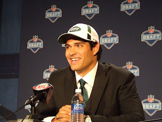 NFL Draft: Mark Sanchez Has Entered The Building in NYC