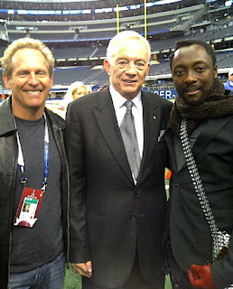 Wil.I.Am, Black Eyed Peas, Photo With Jerry Jones: Super Bowl XLV, Cowboys Stadium