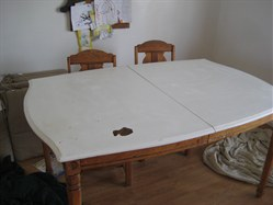 how to fix paint peeling off wood table