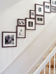 Family photo wall display - Stairway photo gallery ideas ...