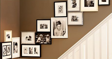 Family Photo Wall Display
