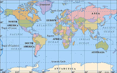 Mr Panjanadens Blog Continental Map Of The World - Continental map