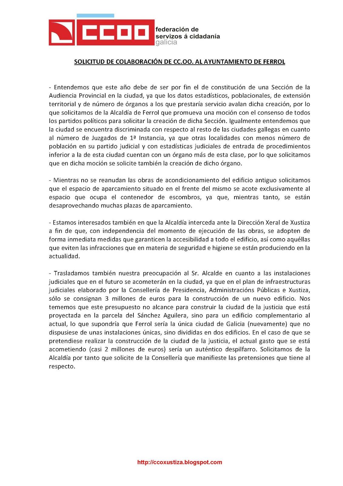 CCOO de Xustiza: enero 2011