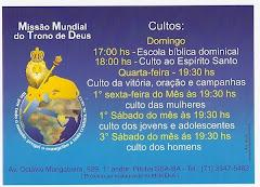 Misão Mundial do trono de Deus