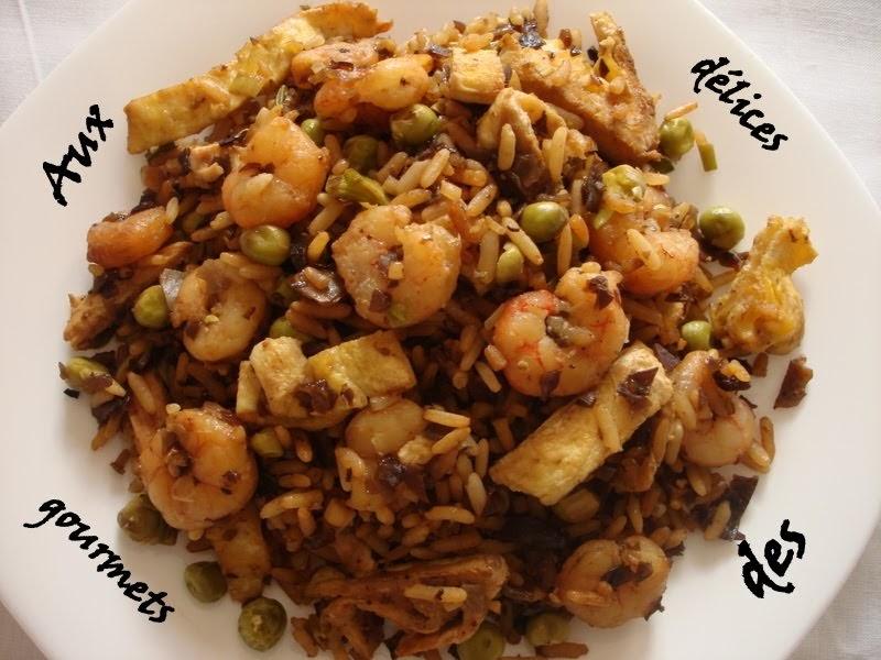 Aux d lices des gourmets riz cantonais aux crevettes - Peut on donner du riz cuit aux oiseaux ...