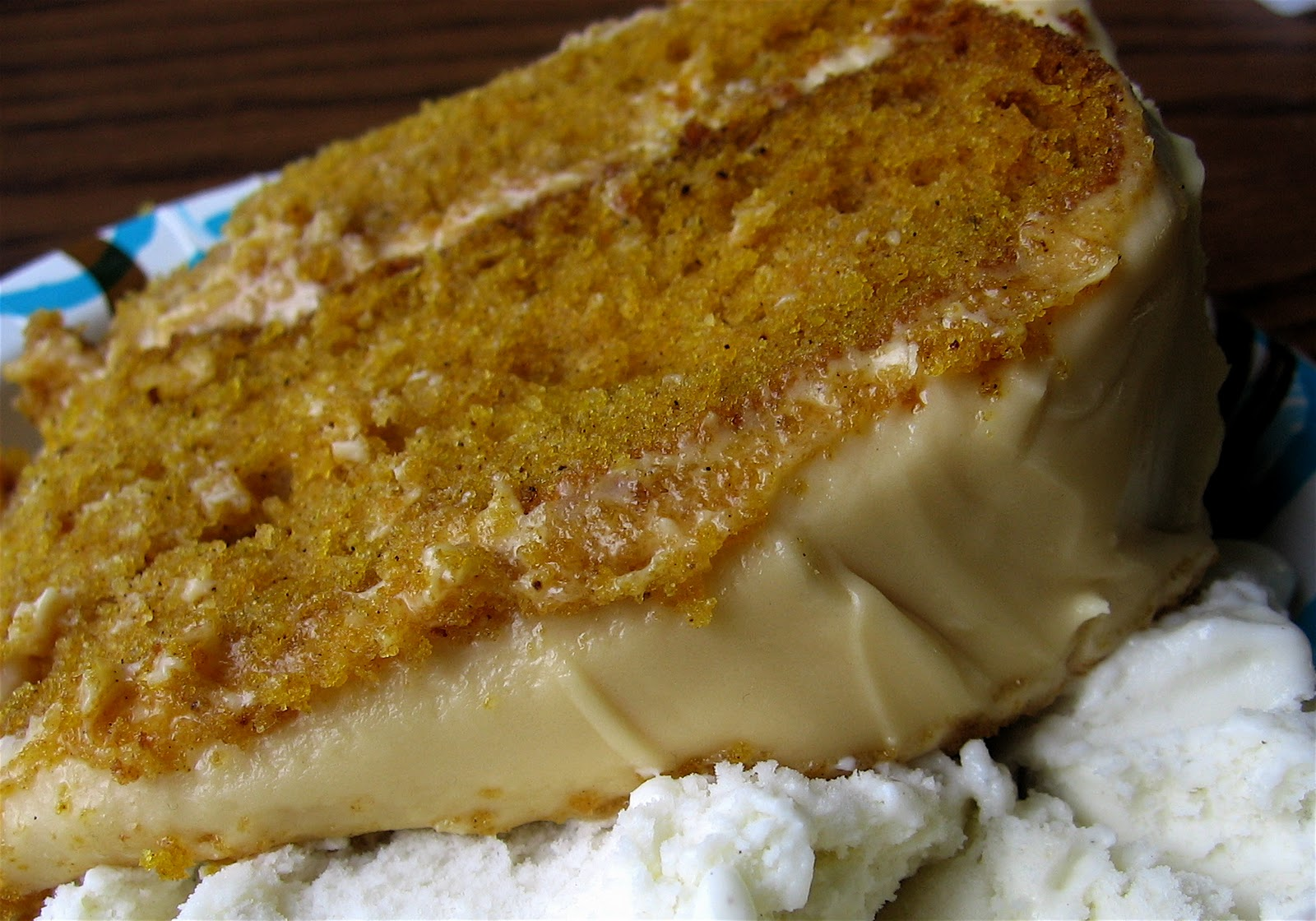 ... Laughter: Pumpkin Spice Layer cake with Caramel Cream Cheese Frosting