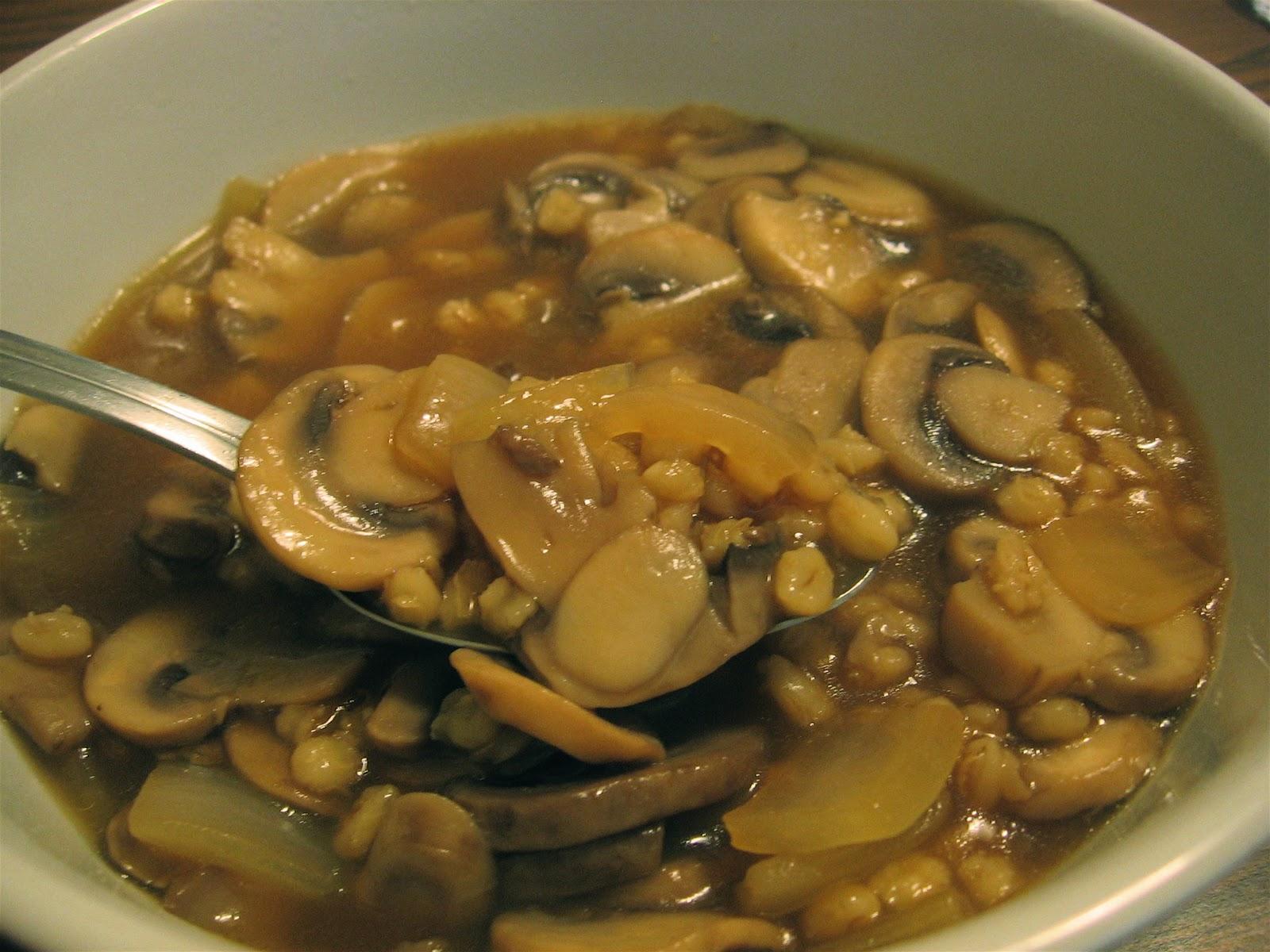 Recipes For Laughter: Mushroom Barley Soup