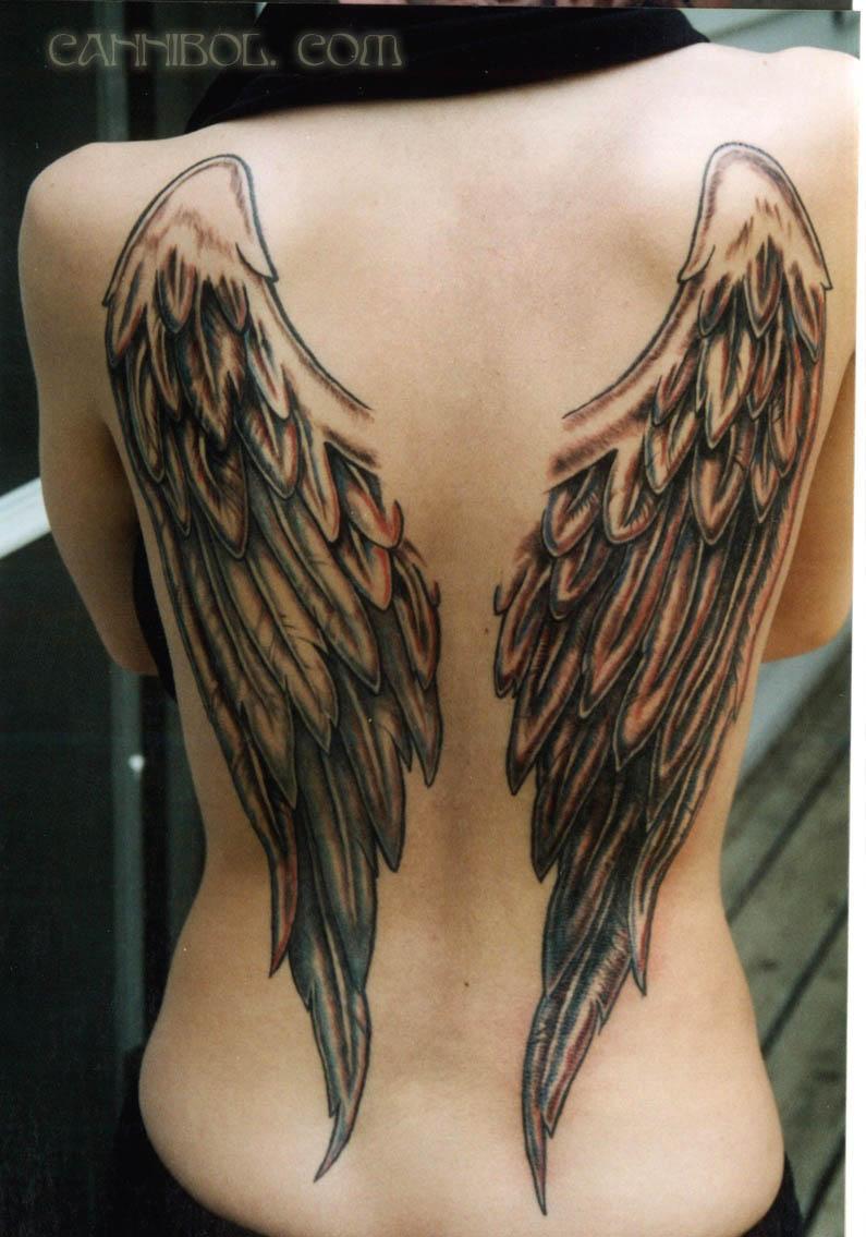 Эскизы пирсинг тату на спине крылья