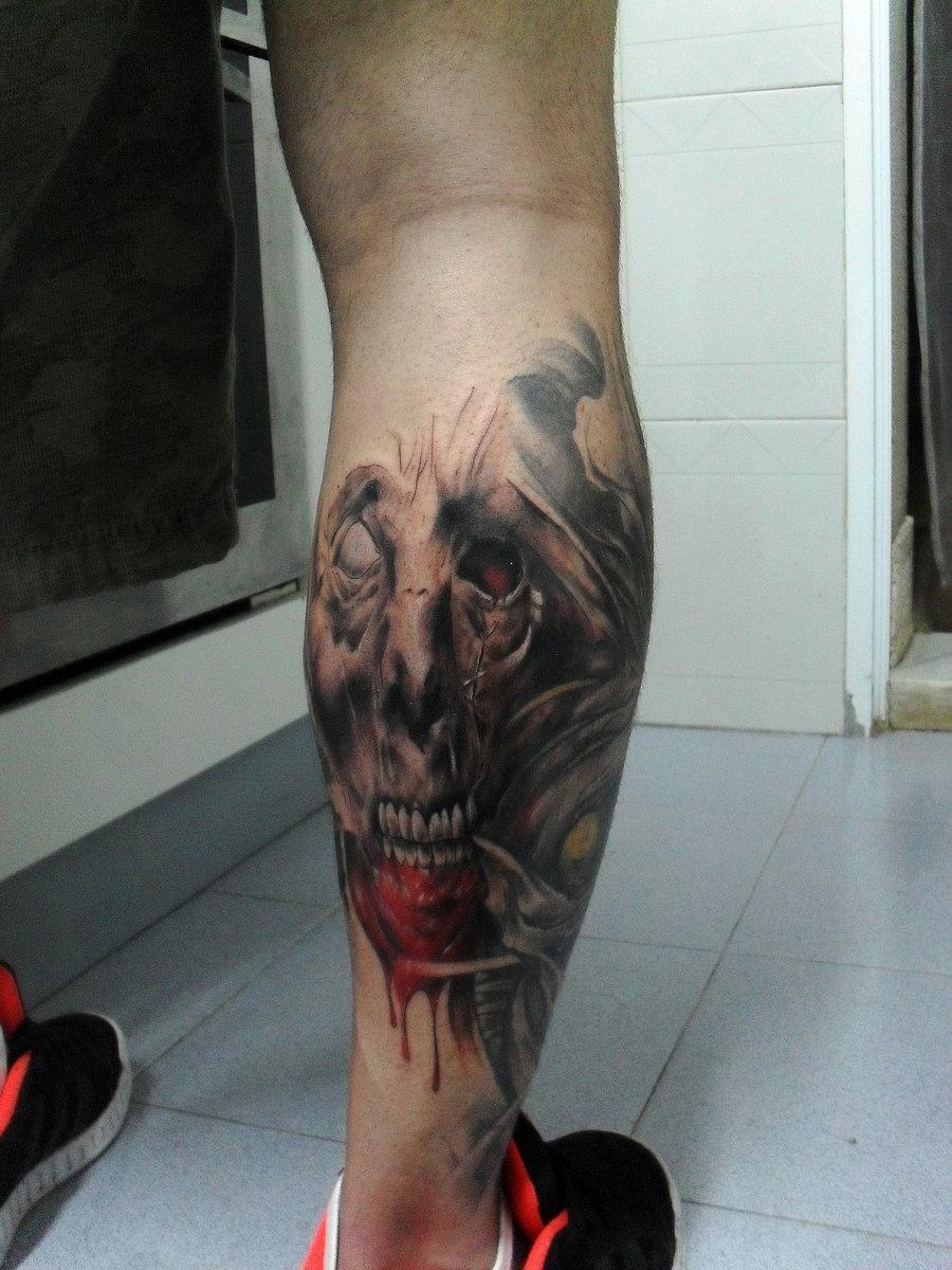 Модные татуировки для девушек на ноге (фото)