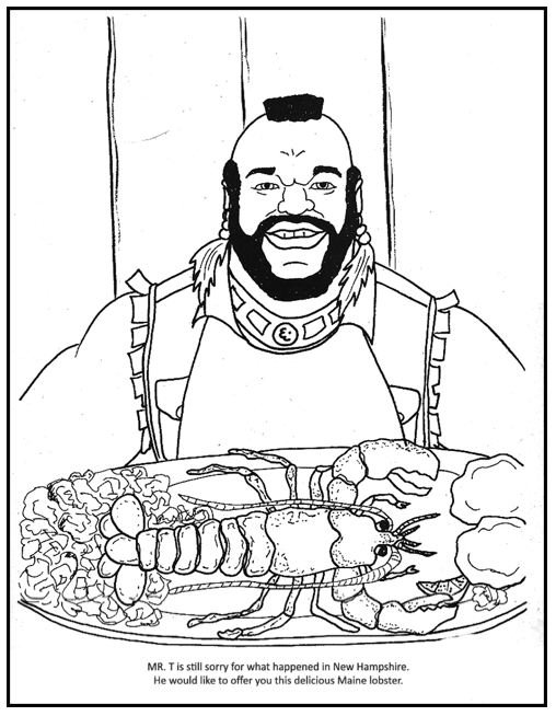 mr t rex colouring pages