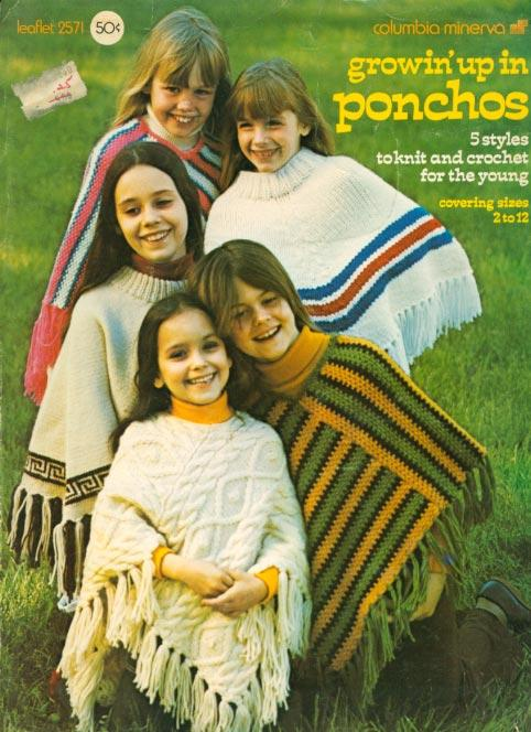 70s Childrens Ponchos Bernat Handicrafter #171 Knit Crochet Patterns
