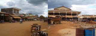 Ratanakiri - Banlung, streets and market in 2005