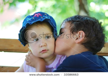 kissing me baby hugging:
