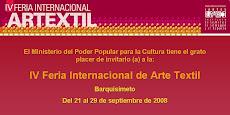 IV Feria Internacional Artextil. Del 10 al 16 de octubre 2008