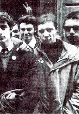 Mario Martínez frente al Marquee, 1981